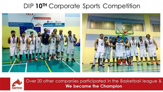 NAFFCO proudly participated in the 10th DIP Corporate Sports Competition