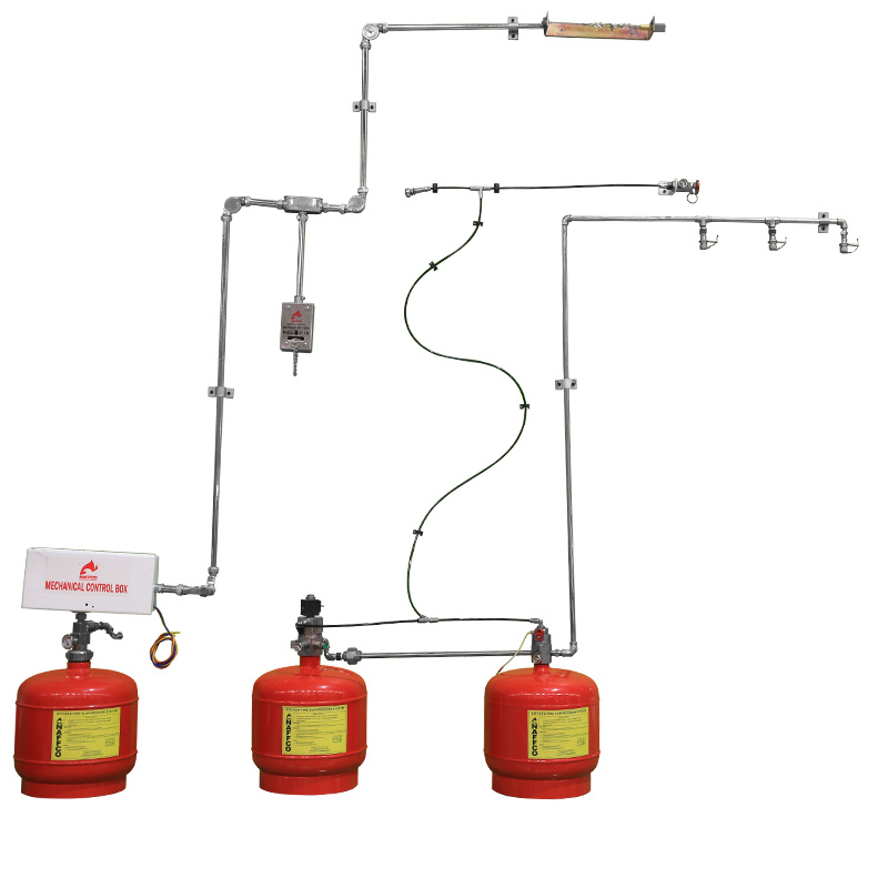 Kitchen Hood Wet Chemical Fire Suppression System Pre Engineered Kitchen  Suppression System