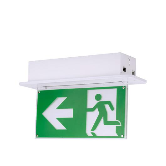 Recessed mount exit light ezex led r naffco fzco recessed mount exit light mozeypictures Images