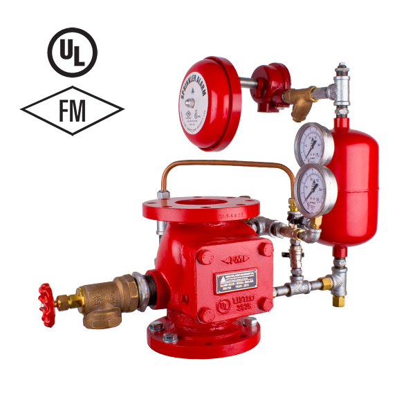 Wet Alarm Valve Assembly For Fire Sprinkler System